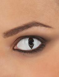 Lentilles fantaisie oeil reptile blanc adulte