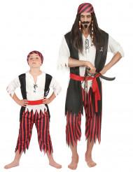 Déguisement couple pirate père et fils