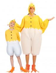Déguisement de couple poussin parent et enfant