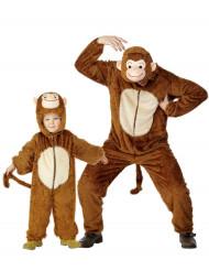 Déguisement de couple singe père et fils