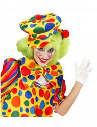 Beret à pois clown adulte