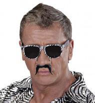 Lunettes moustache zébrées adulte