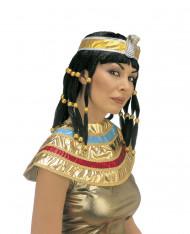 Perruque Cléopâtre brune femme