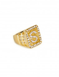 Bague dollars strass adulte