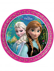 8 assiettes La Reine des neiges™ 23 cm