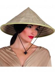 Chapeau chinois naturel adulte