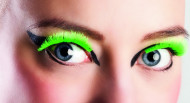 Faux cils courts verts fluo adulte
