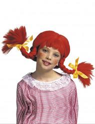Perruque tresses rousses fille