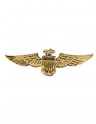 Broche pilote aviateur dorée