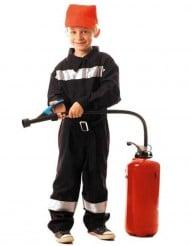 Déguisement pompier avec bandes réfléchissantes garçon