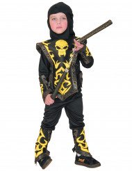 Déguisement ninja jaune à motifs garçon