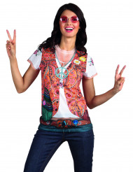 T-Shirt veste hippie femme