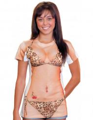 T-Shirt bikini léopard femme