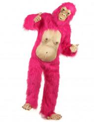 Déguisement gorille rose adulte