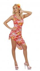 Déguisement hawaïenne palmier femme