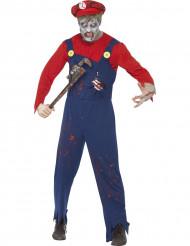 Déguisement zombie plombier homme Halloween