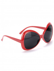 Lunettes disco adulte rouge