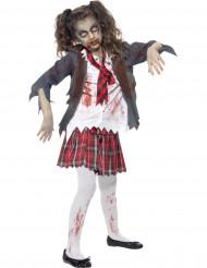 Déguisement zombie écoliere fille Halloween