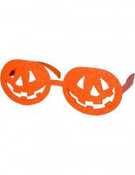 Lunettes orange citrouille adulte Halloween