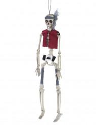 Décoration à suspendre squelette pirate 40 cm