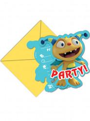 6 Cartes d'invitation avec enveloppes Henry Câlimonstre™