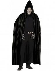 Cape noire avec capuche adulte Halloween