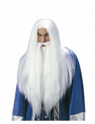 Perruque magicien avec barbe adulte