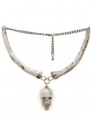 Collier tête de mort adulte Halloween