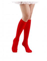Chaussettes longues rouges 53 cm adulte