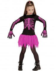 Déguisement squelette rose fille Halloween