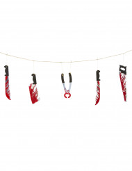 Guirlande armes sanglantes Halloween
