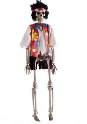 Décoration à suspendre squelette hippie Halloween