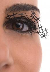 Faux cils courts noirs araignées adulte