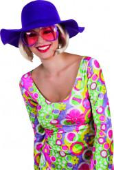 Chapeau estival violet femme