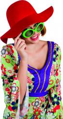 Chapeau estival rouge femme