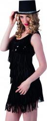 Chapeau haut de forme noir et argent adulte