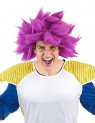 Perruque manga violette adulte