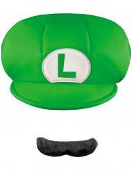 Casquette et Moustache Luigi™ Enfant