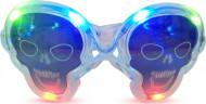 Lunettes lumineuses transparentes tête de mort