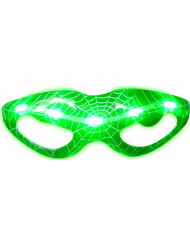 Lunettes lumineuses vertes toile d'araignées