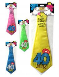 Cravate humoristique 40 ans