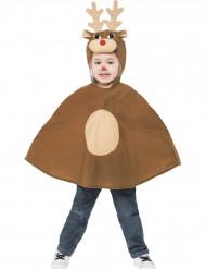 Poncho petit renne enfant Noël
