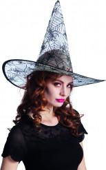 Chapeau toile d'araignée transparent adulte Halloween