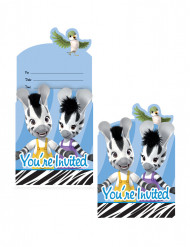 8 Cartes d'invitation Zou™