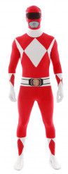 Déguisement Morphsuits™ Power Rangers™ rouge adulte
