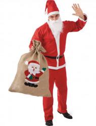 Sac en jute Père Noël