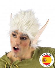 Perruque blanche et oreilles elfe