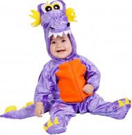 Déguisement petit dragon violet bébé