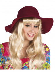 Chapeau estival bordeaux femme