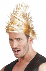 Perruque punk blonde homme